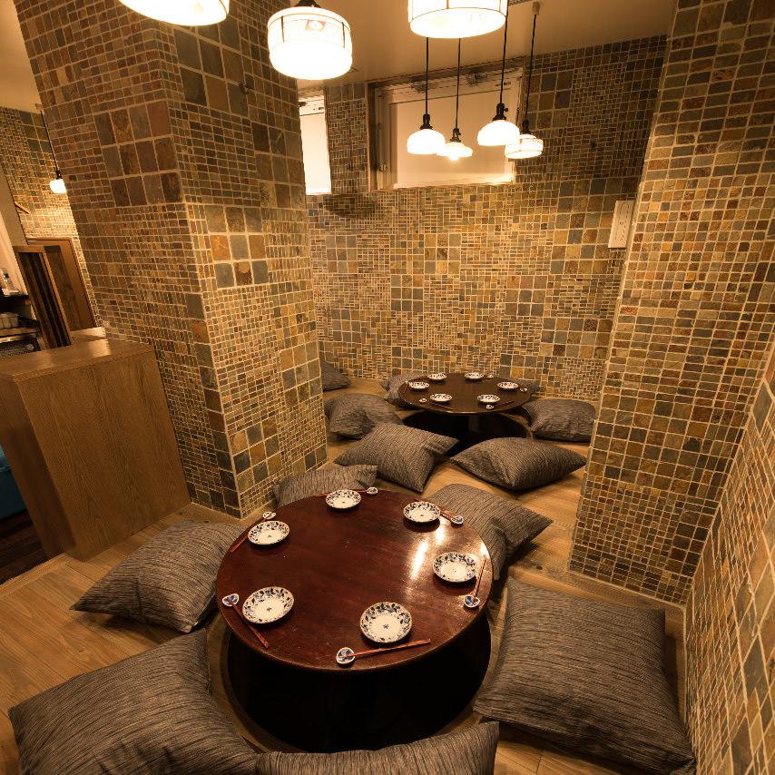 円卓掘りごたつ個室