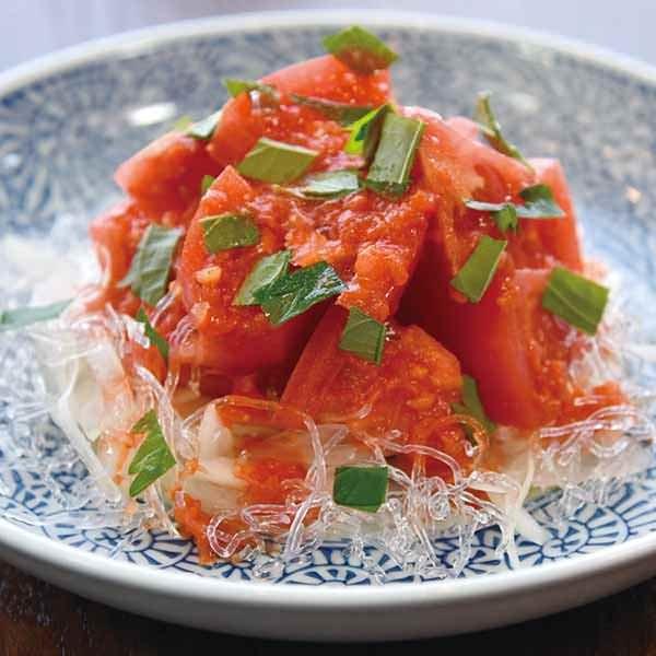 トマトサラダ 自家製梅ドレッシングの画像