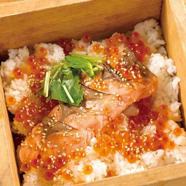 鮭といくらの親子せいろ飯