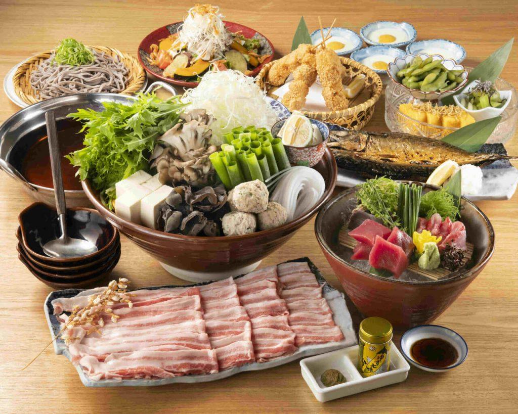 【お料理のみ】特製だしで食べる!山形豚しゃぶしゃぶ堪能コース