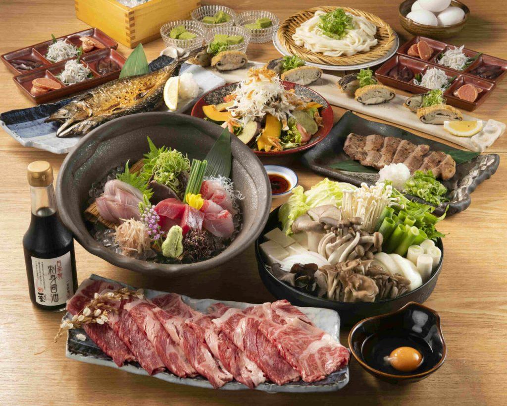 【お料理のみ】秋の味覚満載!国産牛のすき焼きゆったり贅沢コース
