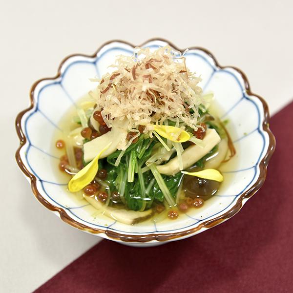 茸と青菜のかぼす浸し