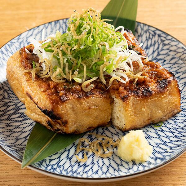 栃尾油揚げの自家製豚味噌焼きの画像