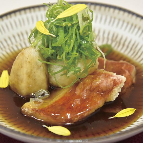 金目鯛と海老芋の揚げだしの画像