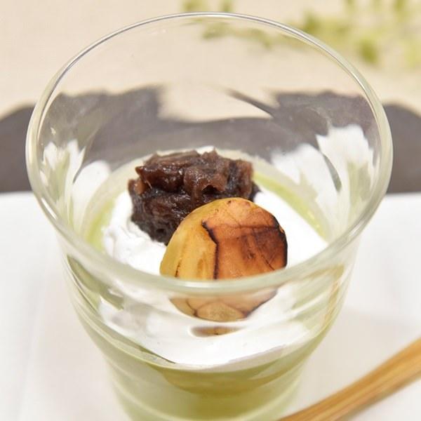 宇治抹茶と和三盆のプリンの画像