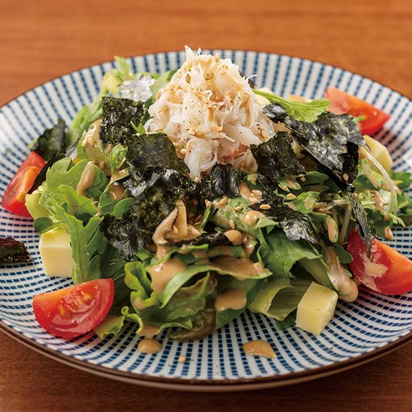 ずわい蟹の春菊サラダ